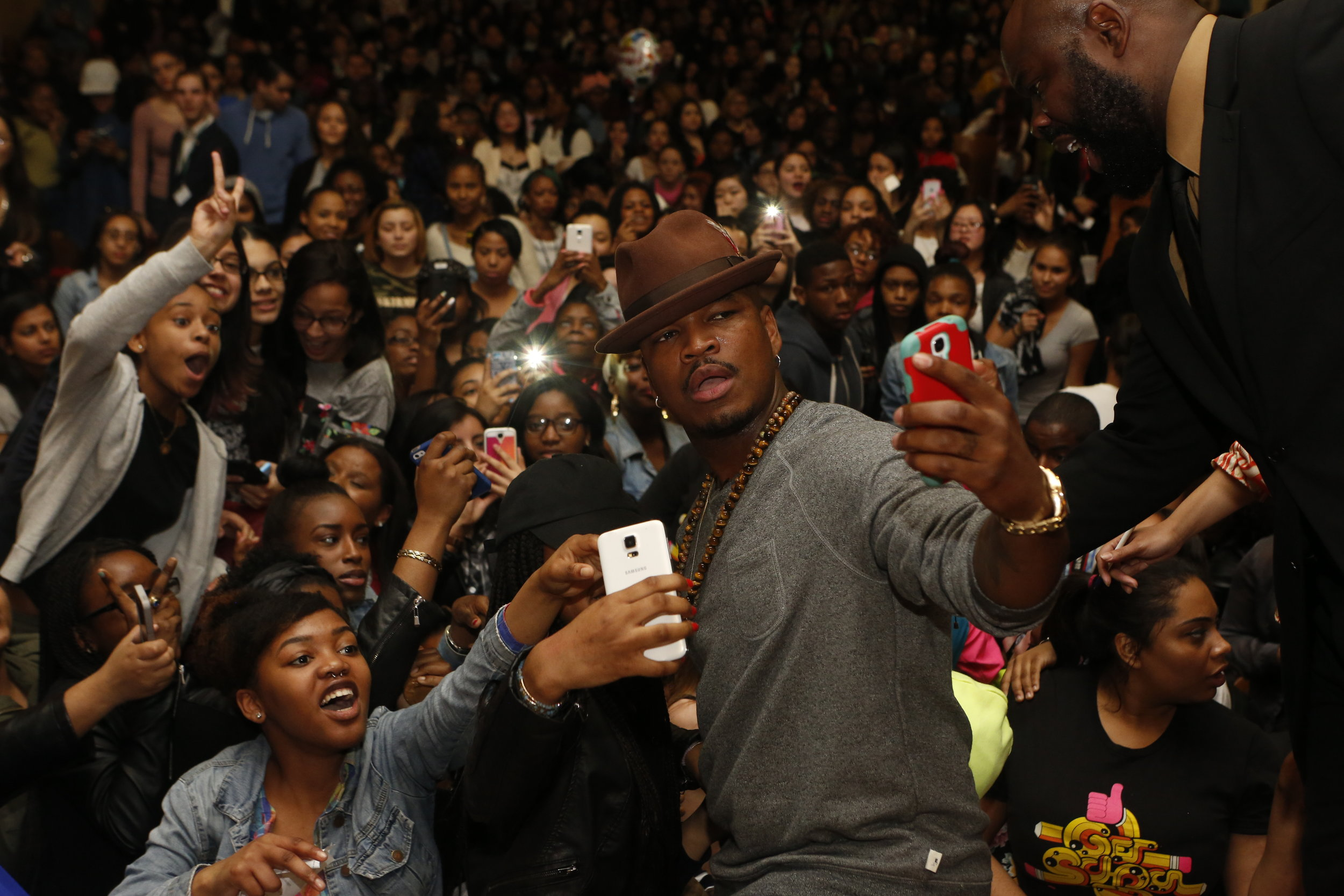 Ne-Yo with Get Schooled in NYC