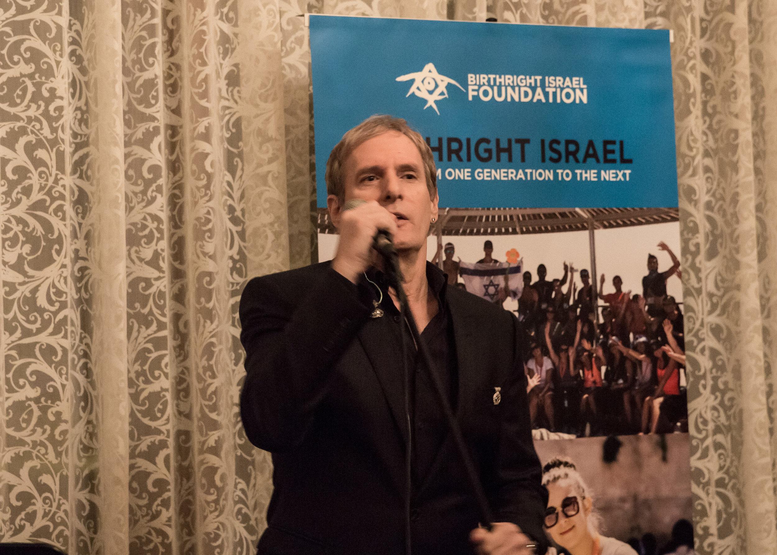 Michael Bolton performing at Birthright Israel Foundation Gala