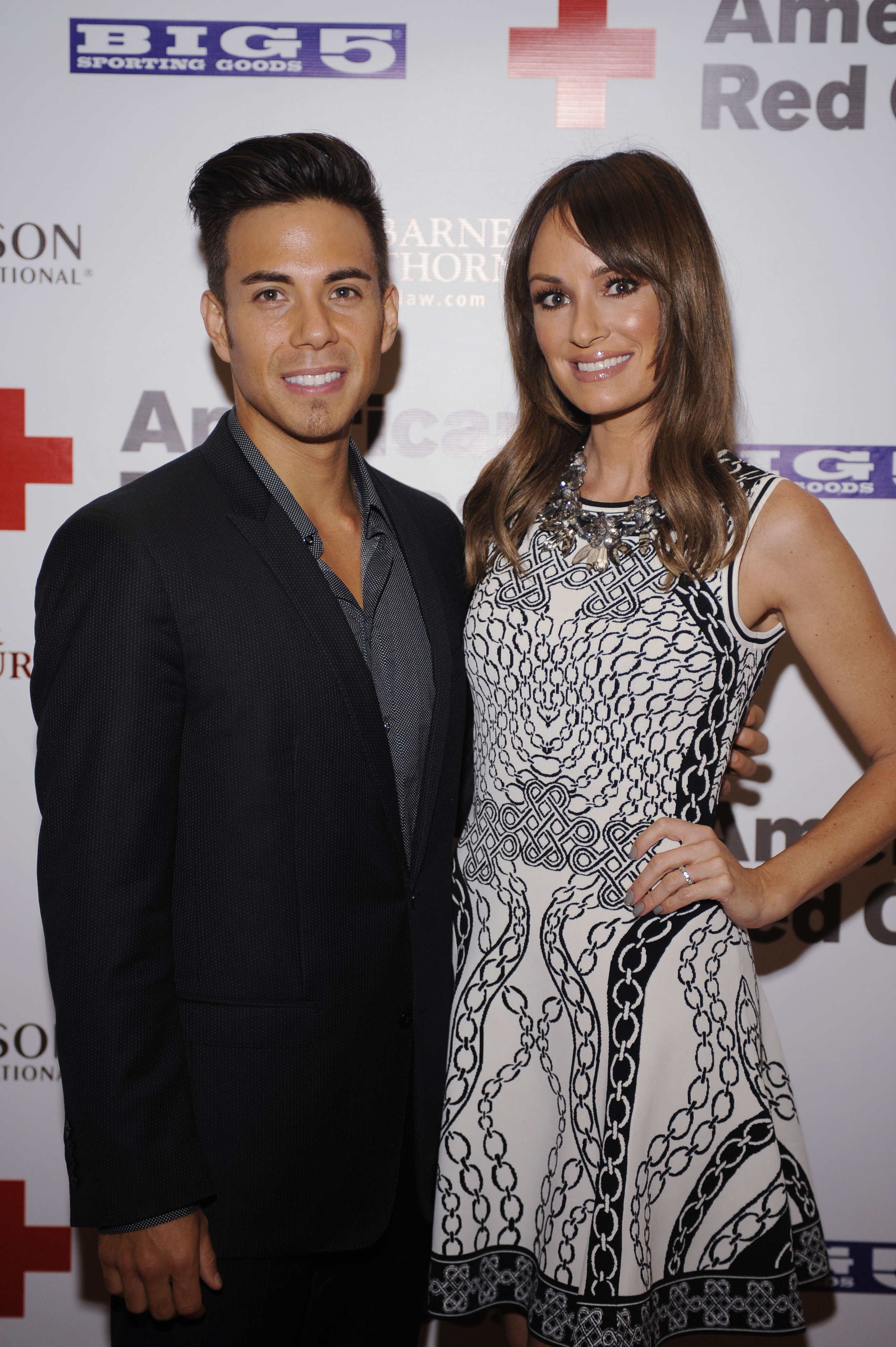 Apolo Ohno & Catt Sadler at the Red Cross LA Heroes Luncheon
