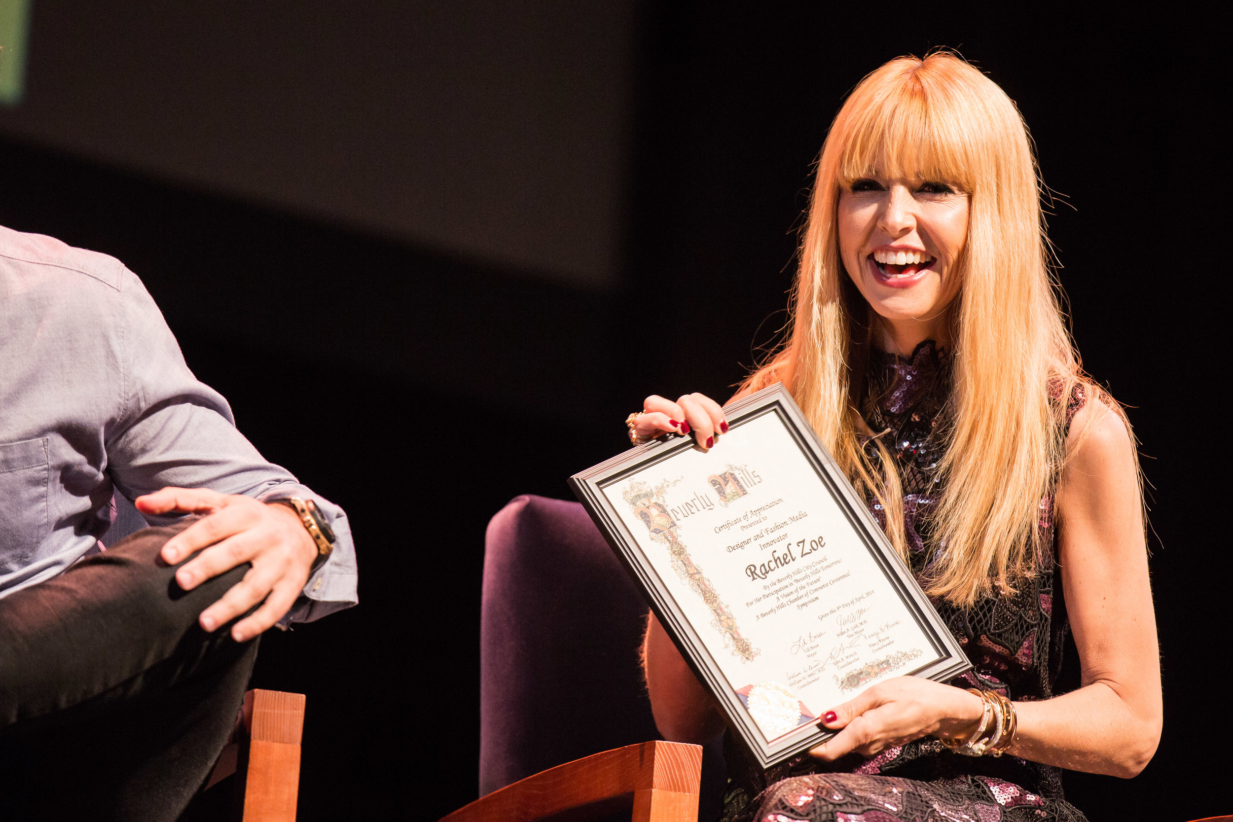 Rachel Zoe honored at Beverly Hills Chamber of Commerce event