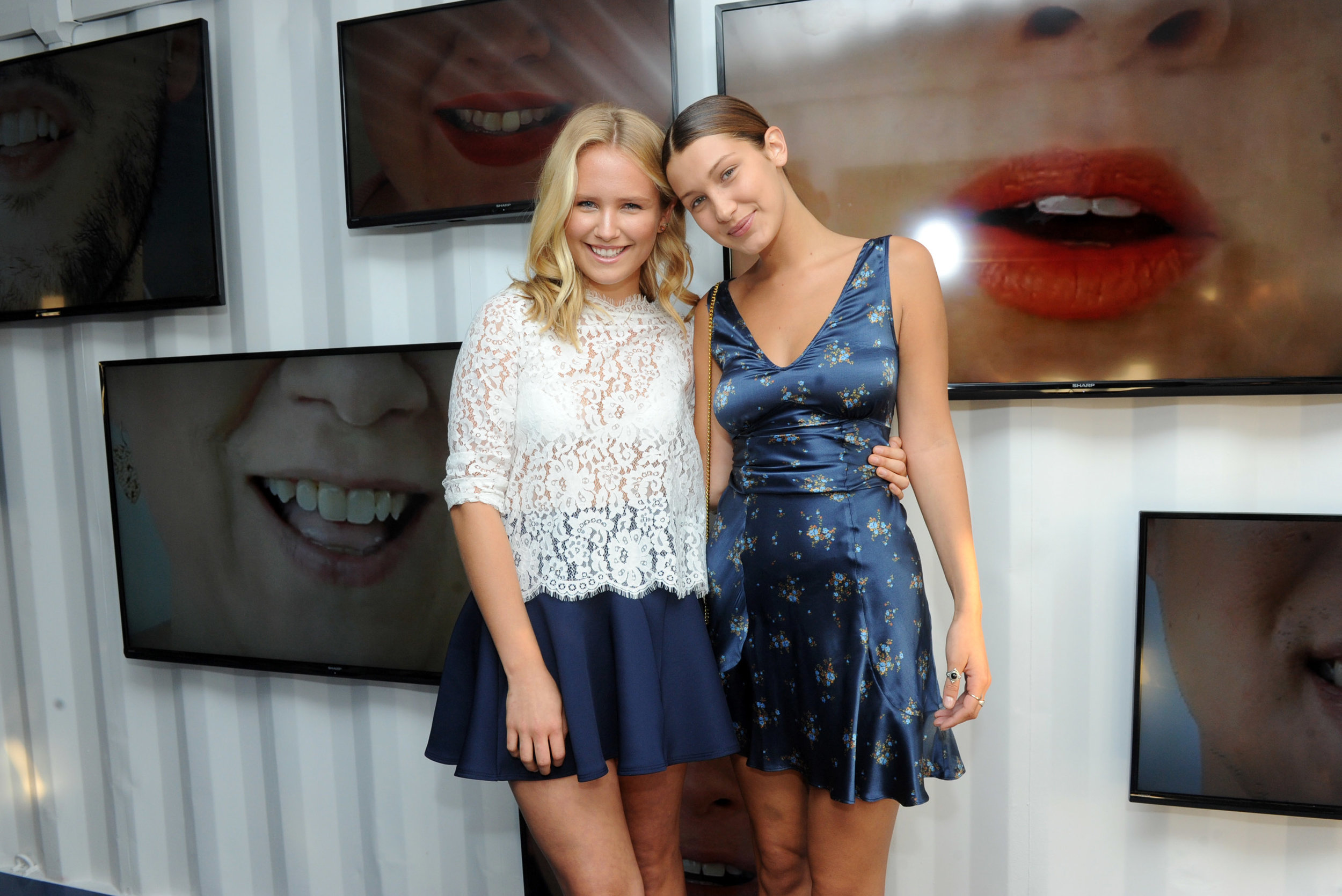 Sailor Brinkley Cook & Bella Hadid at Smile Train event in NYC