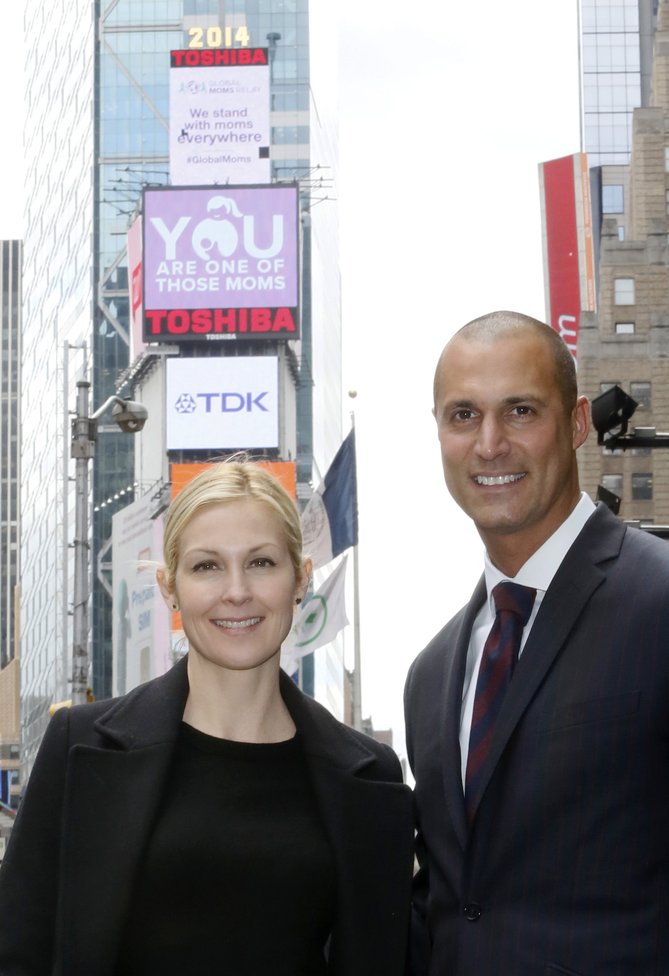 Kelly Rutherford & Nigel Barker launch Global Moms Relay in NYC