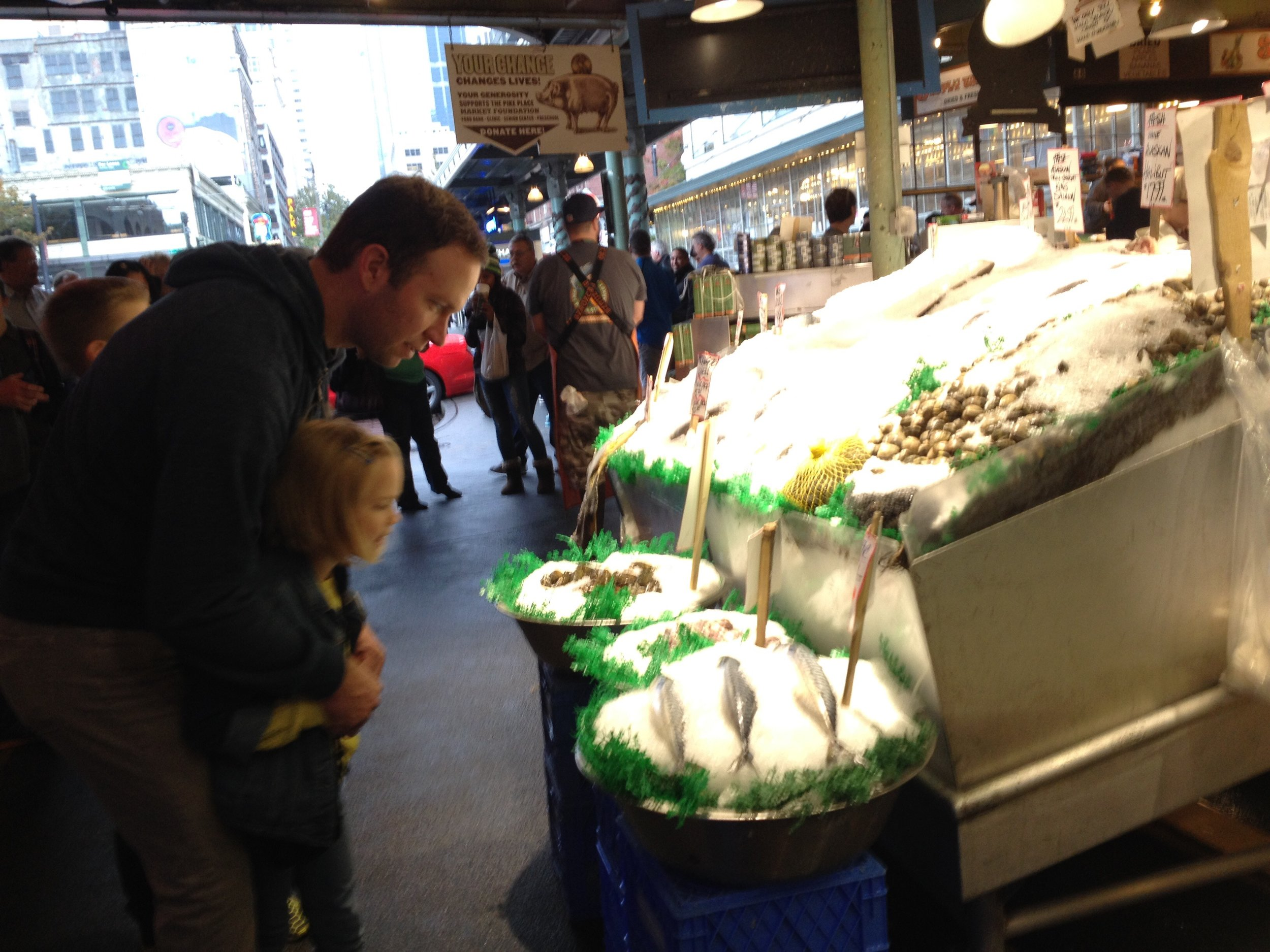 The local catch at Pike Place Market