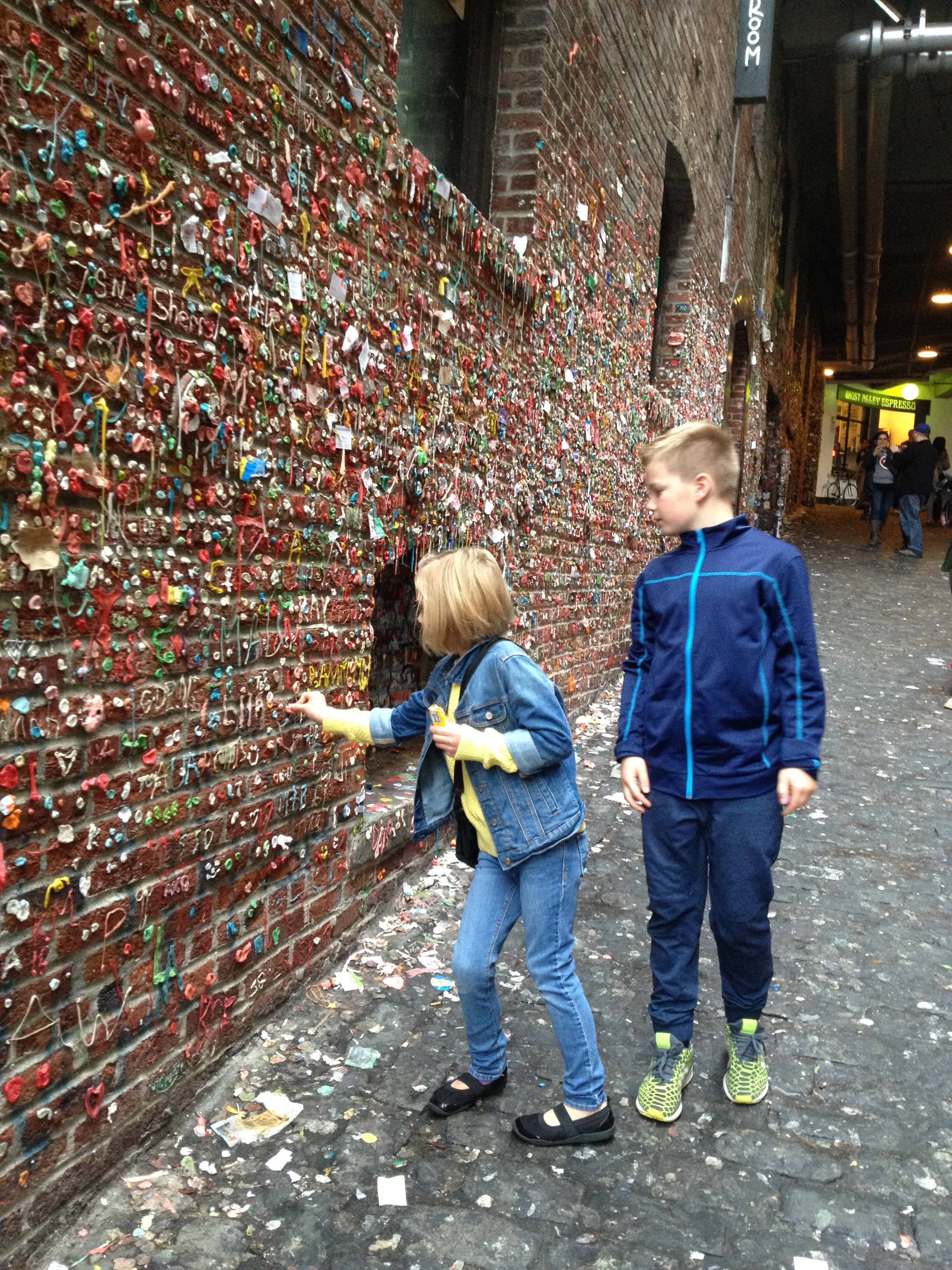 Public art or tourist vandalism? The Gum Wall.