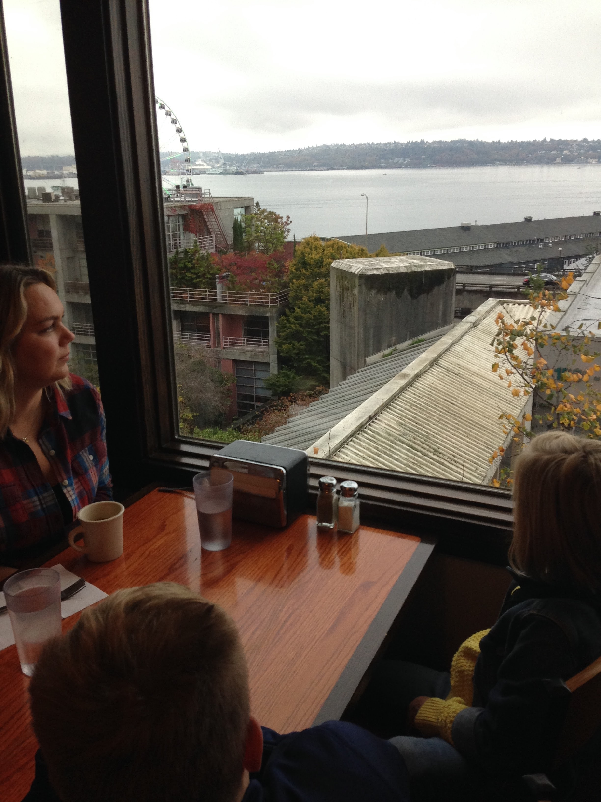 The humble Sound View Cafe - in Pike Place Market - has arguably one of the most affordable views on the Seattle Waterfront.