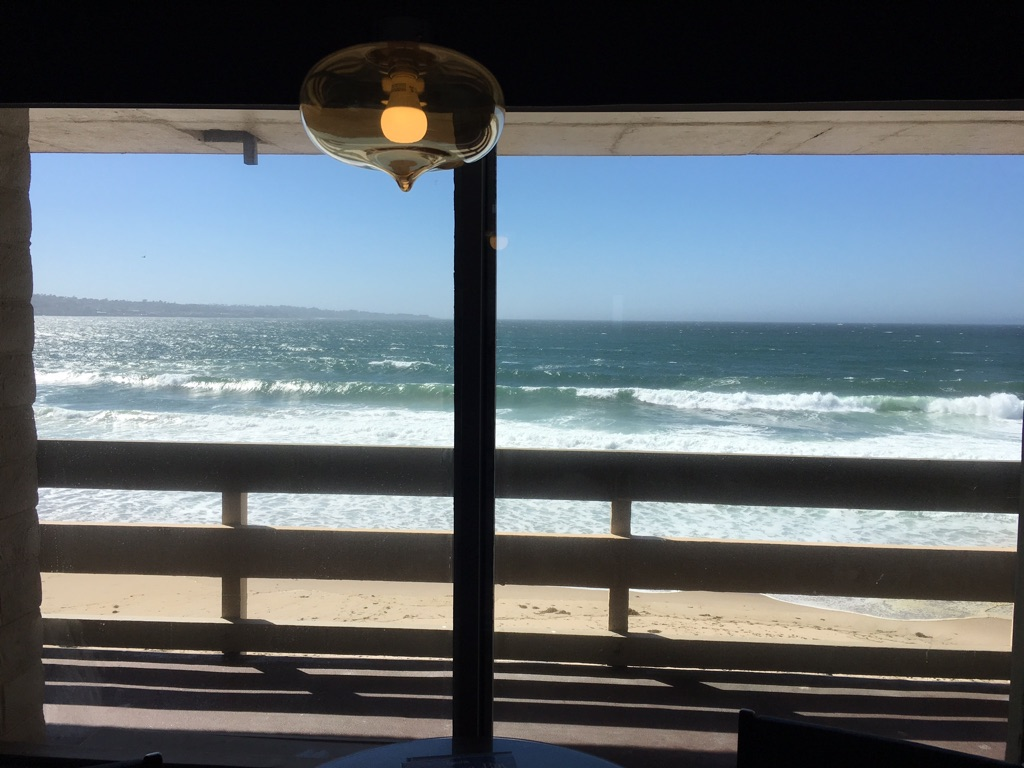 As oceanfront as as it gets at Monterey Tides Hotel.