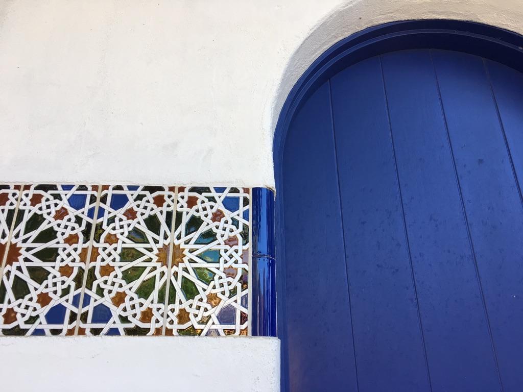 A darling little spanish-style door in downtown Carmel.