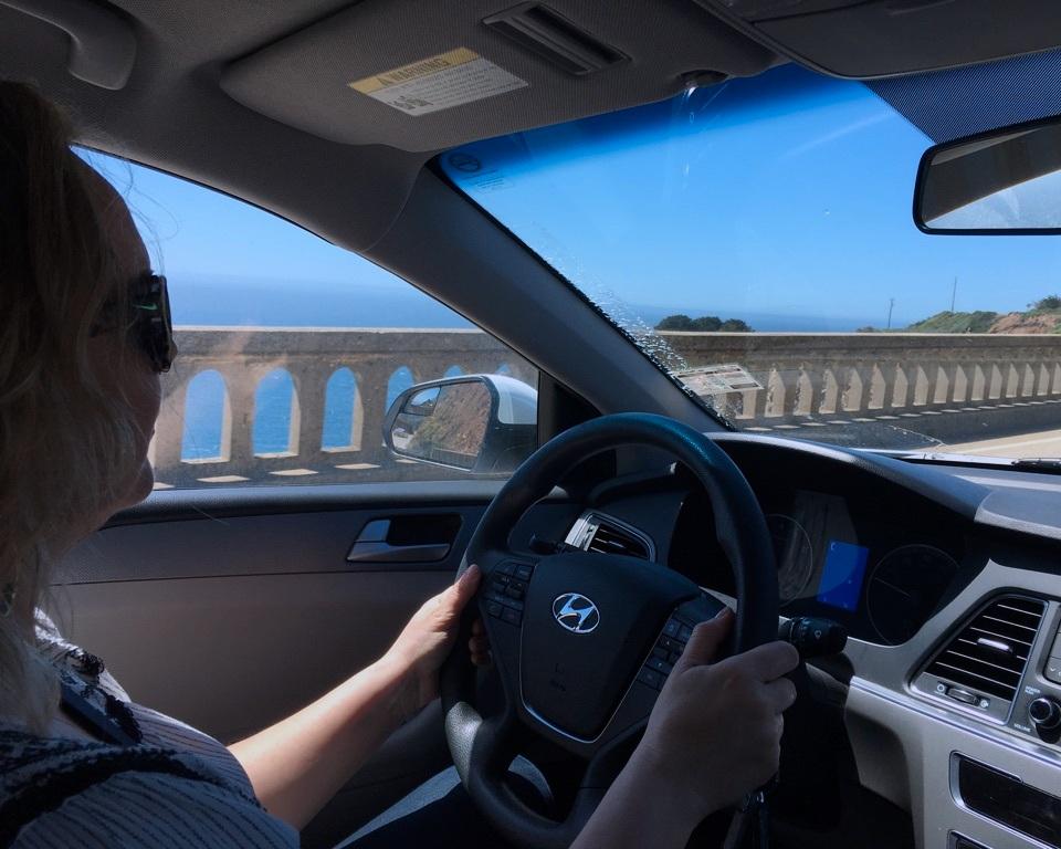 "My husband captured one ""Big Little Lies"" moment for me; driving across the Bixby Creek Bridge."