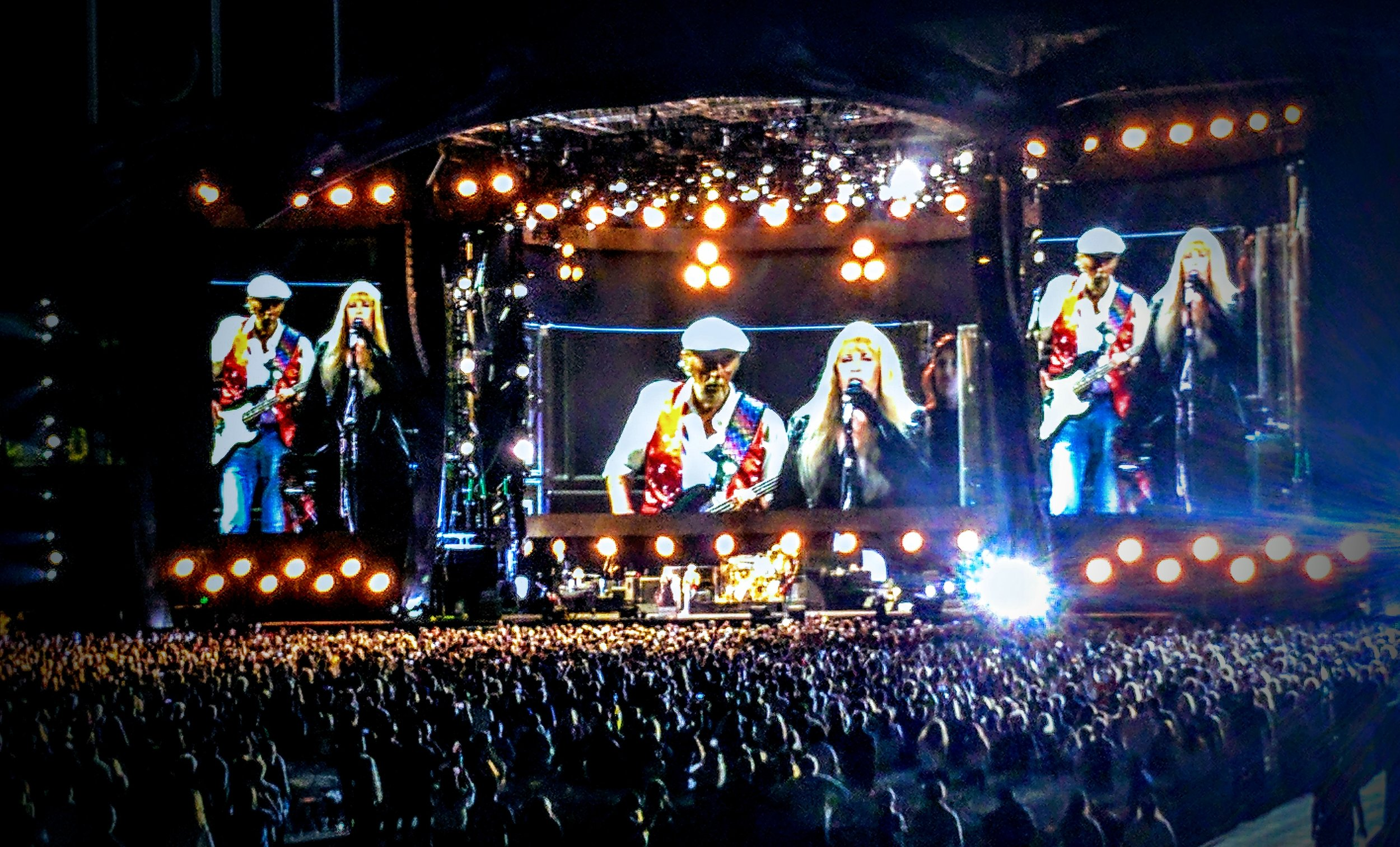John McVie, Stevie Nicks, and 50,000 of our closest friends.