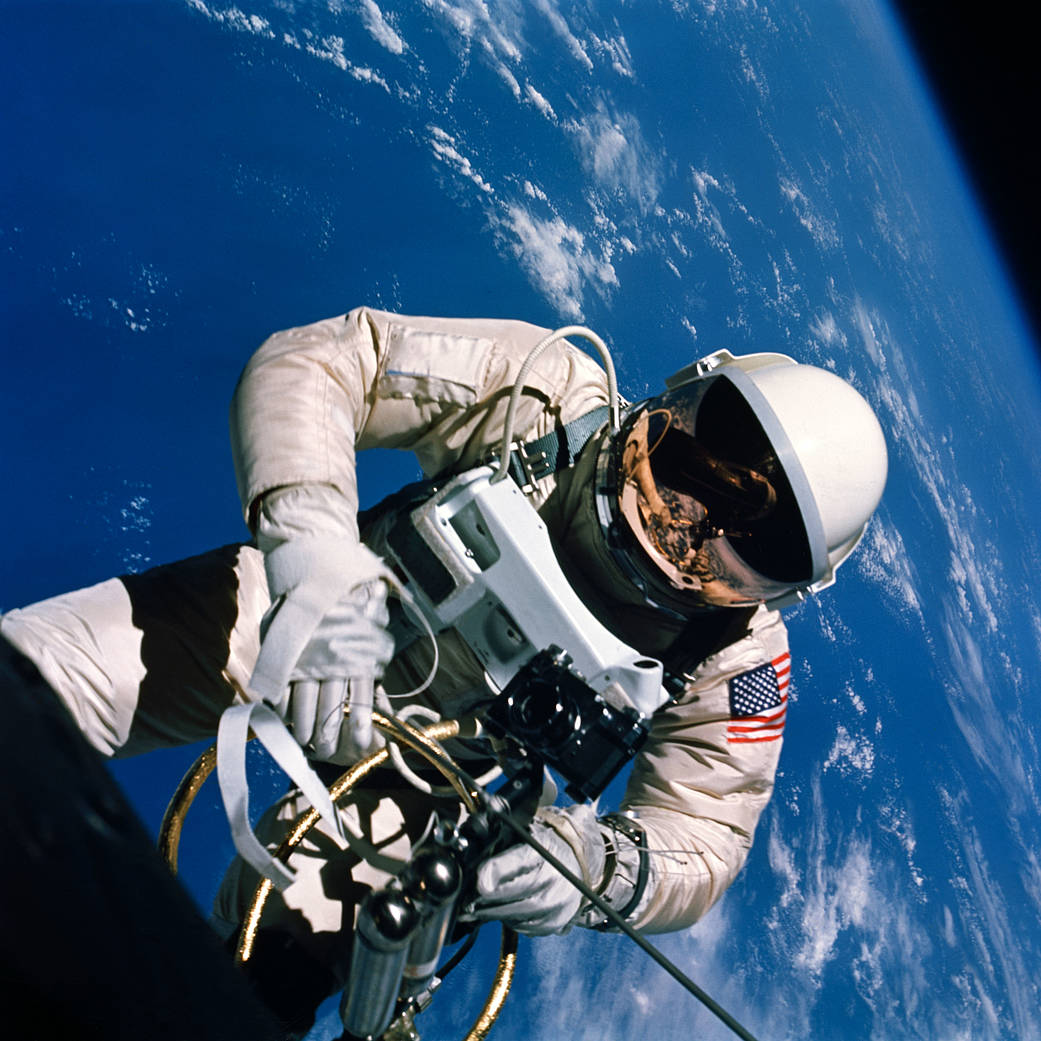 Ed White, Gemini IV. June 1965. Courtesy NASA.