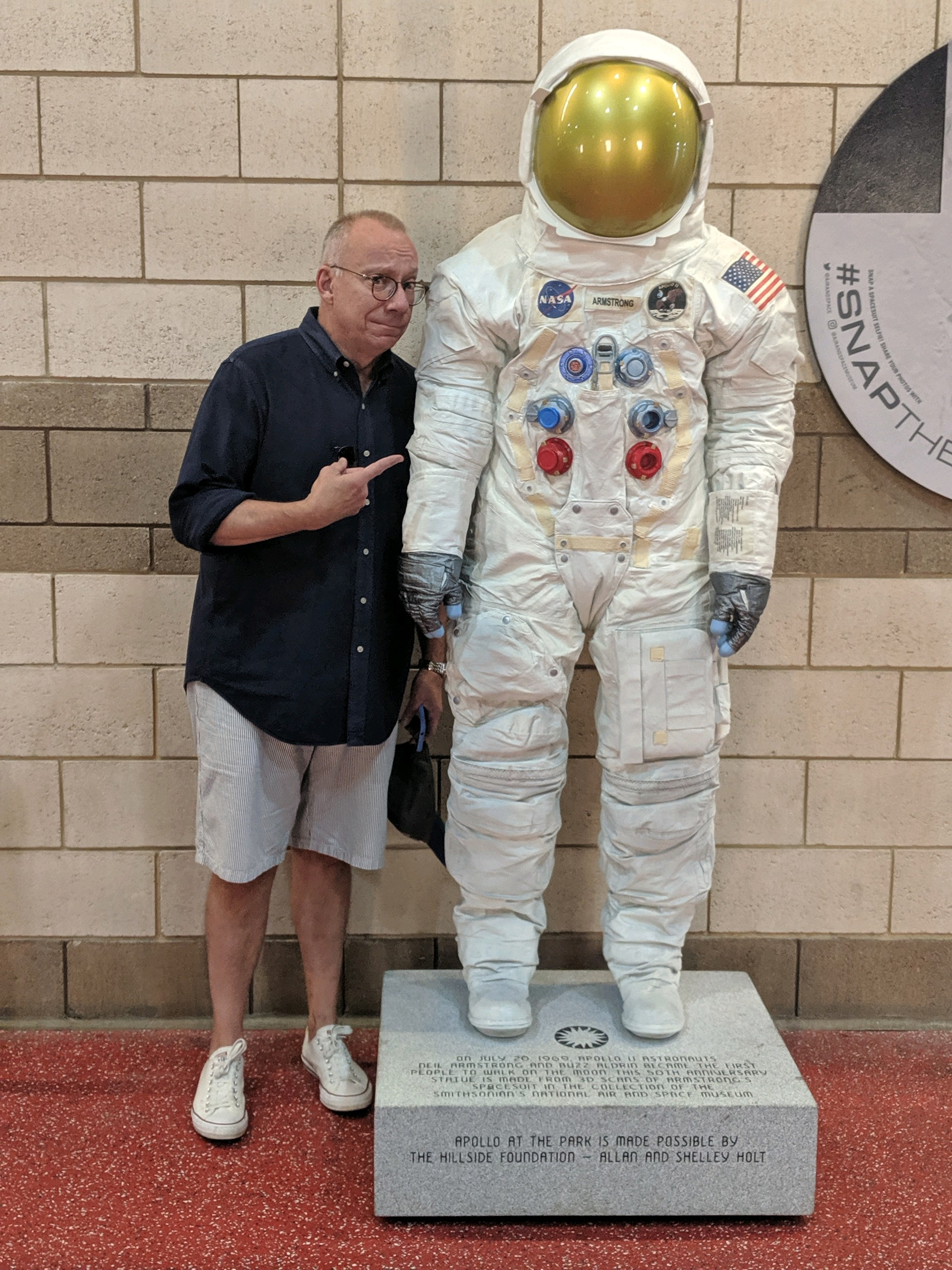 With Neil Armstrong's Apollo XI spacesuit, last weekend in Washington, DC.
