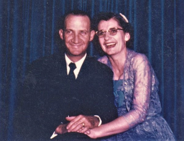 Victor and Elizabeth Ordway at their daughter's (my mom) wedding, spring 1953.