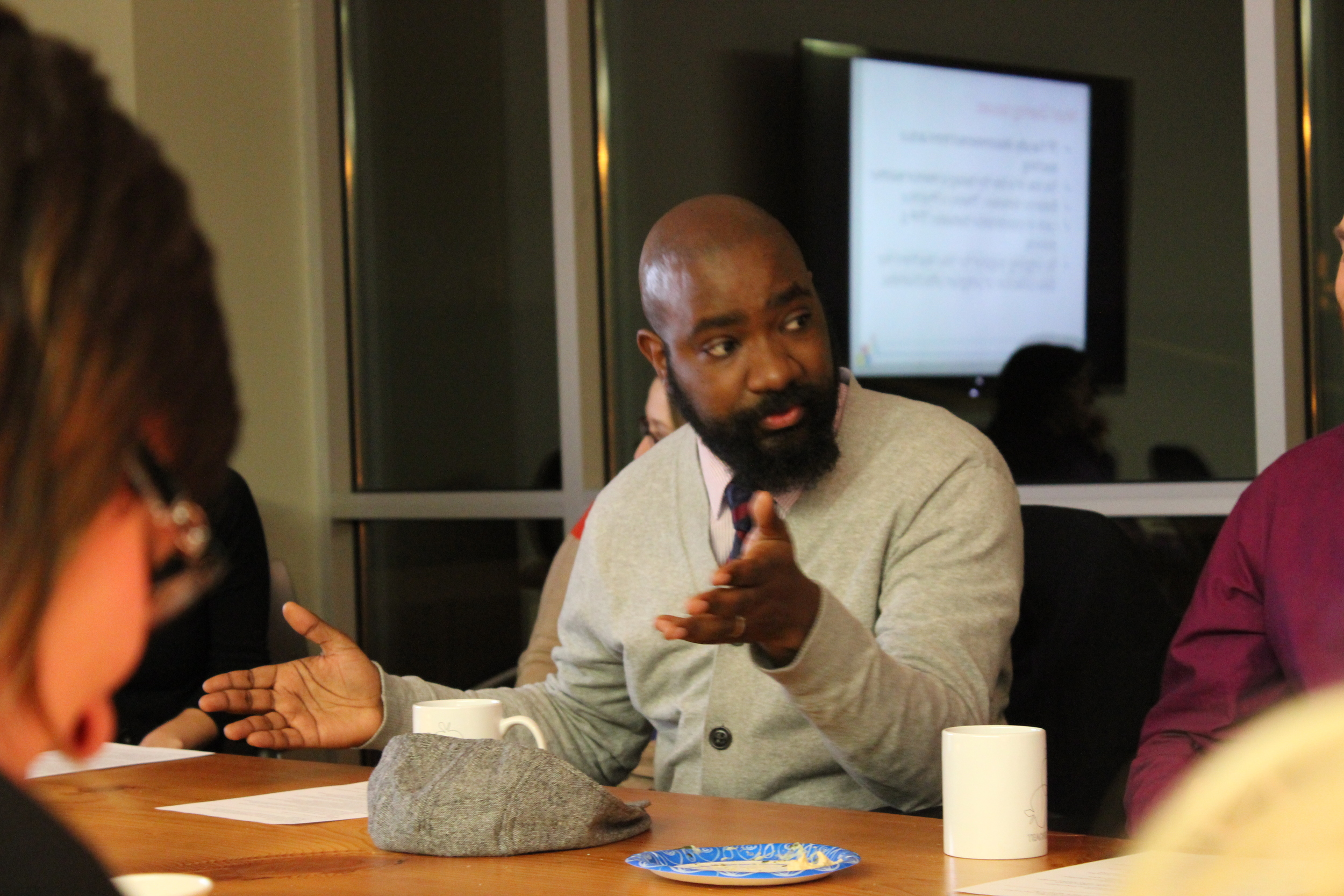 Nathan Gibbs-Bowling speaking at a Network Meeting.