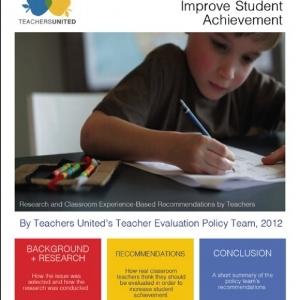 Read  2012 White Paper: A Teacher Evaluation System Designed to Improve Student Achievement