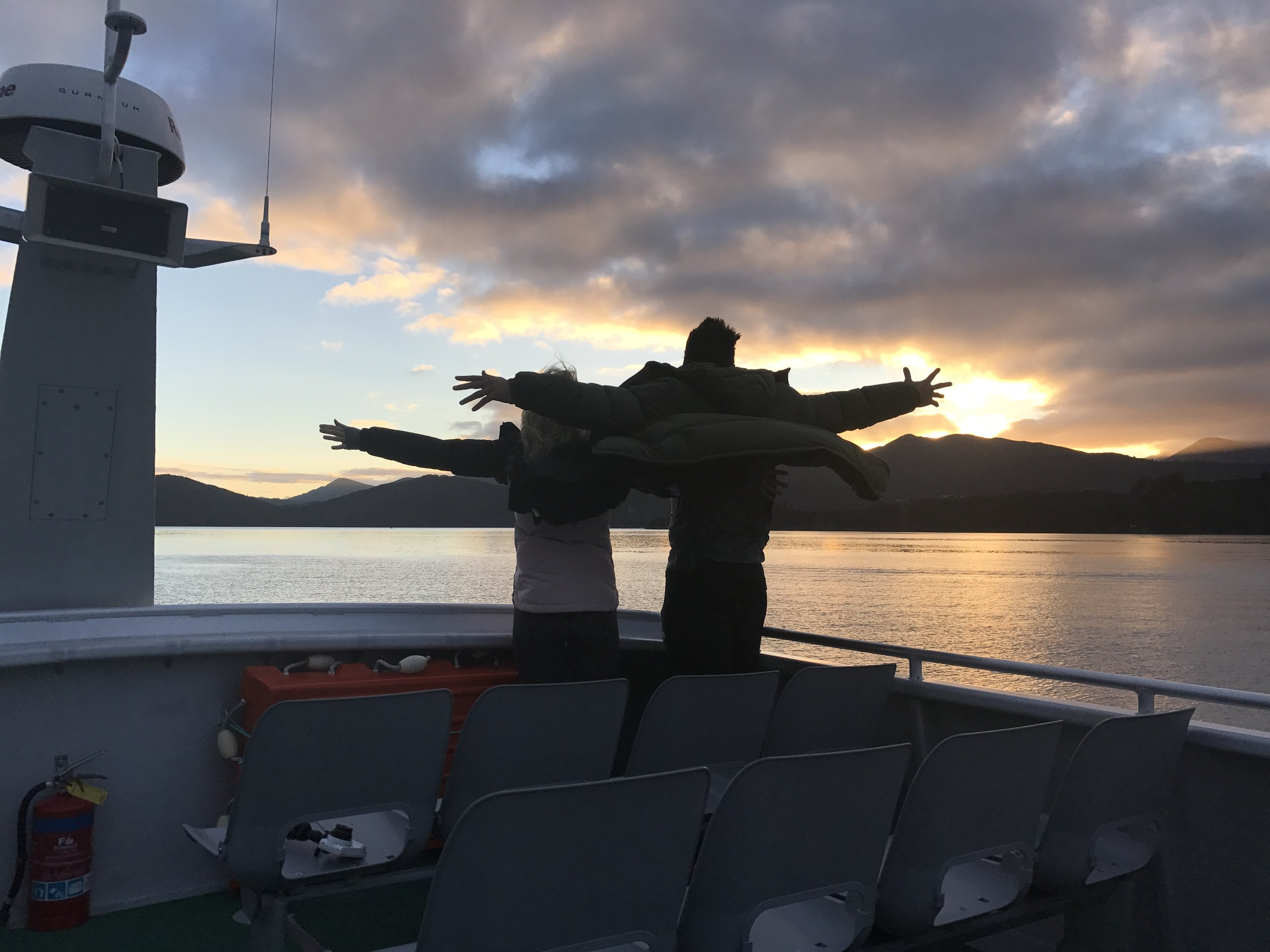Just having our own little Titanic moment on the way home. When the view is that amazing, there's no other option IMO.