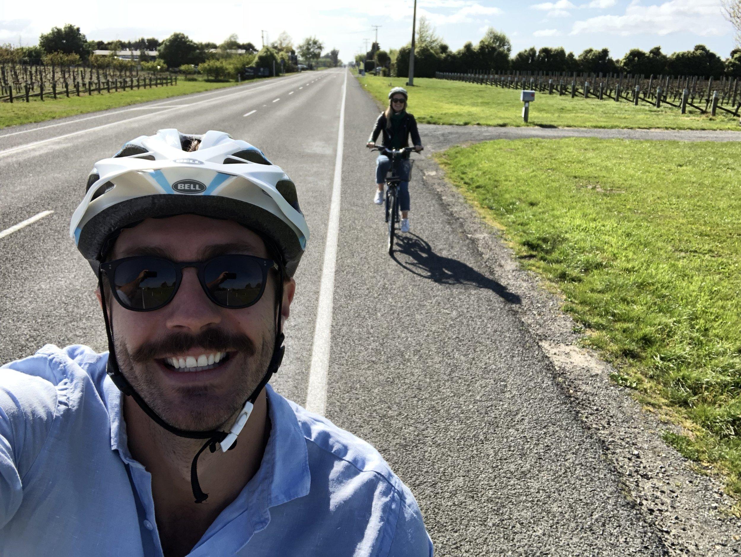 Loves a bike ride!