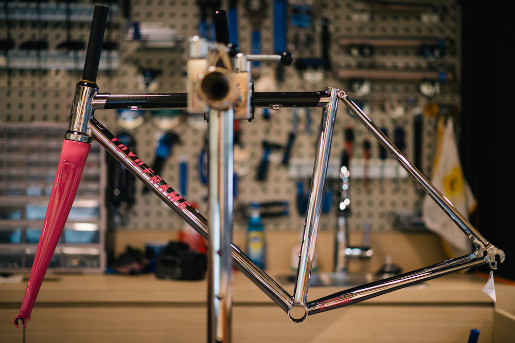 T-Carbon Frameset with custom painted fork and logo