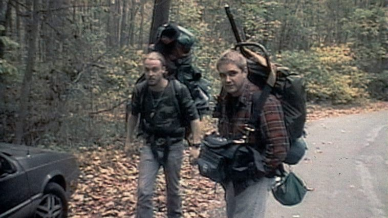 Joshua Leonard and Michael C. Williams in  The Blair Witch Project
