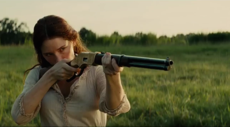 Haley Bennett takes aim.