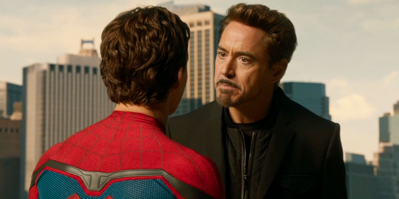 Tony is very upset to find a Spidered-Man in his movie.
