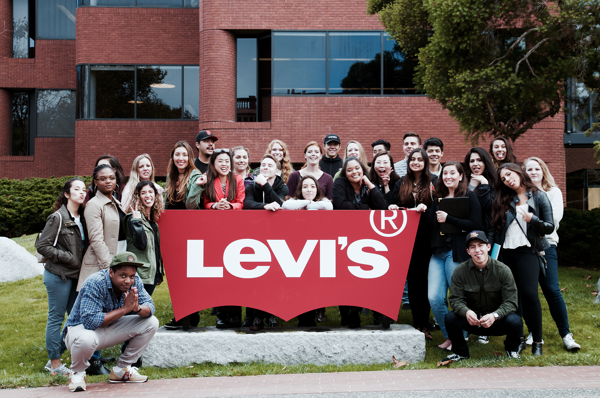 MA members outside of Levi's Global Headquarters in San Francisco.