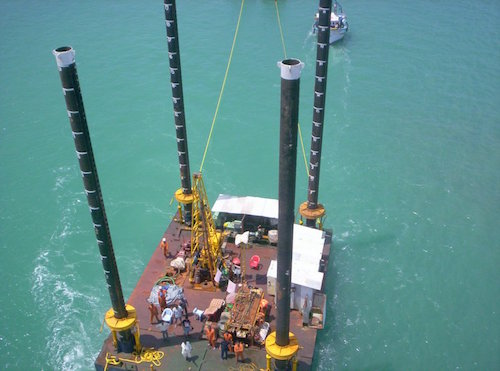 Ariel view of client barge. Approximately 250 tons. Photograph provided by client.