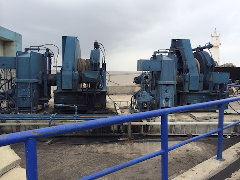Making hydraulic piping and flushing it on Rolls-Royce winches for Adani port, Dahej.