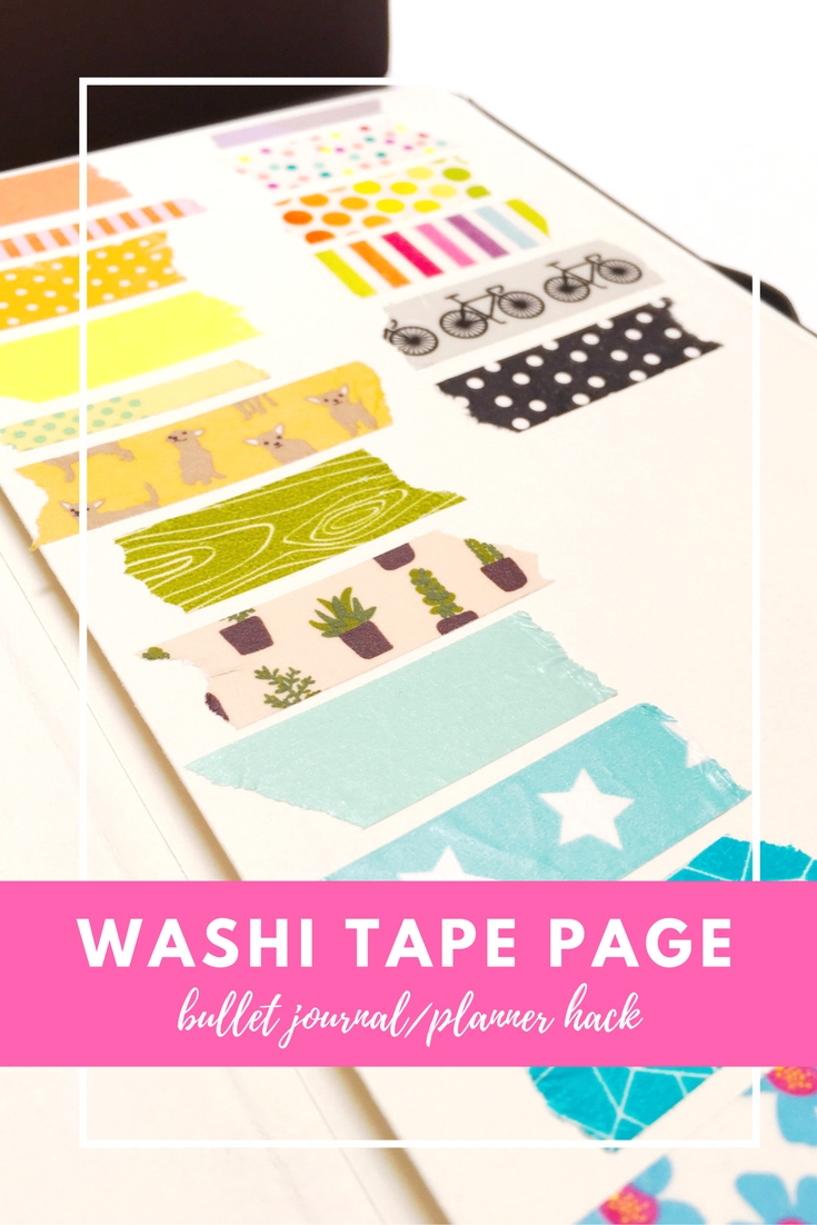 Bullet Journal Washi Tape Page