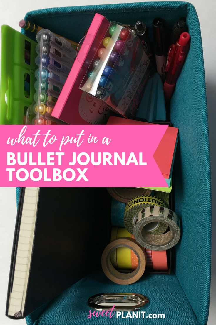 What to Put in a  Bullet Journal Toolbox