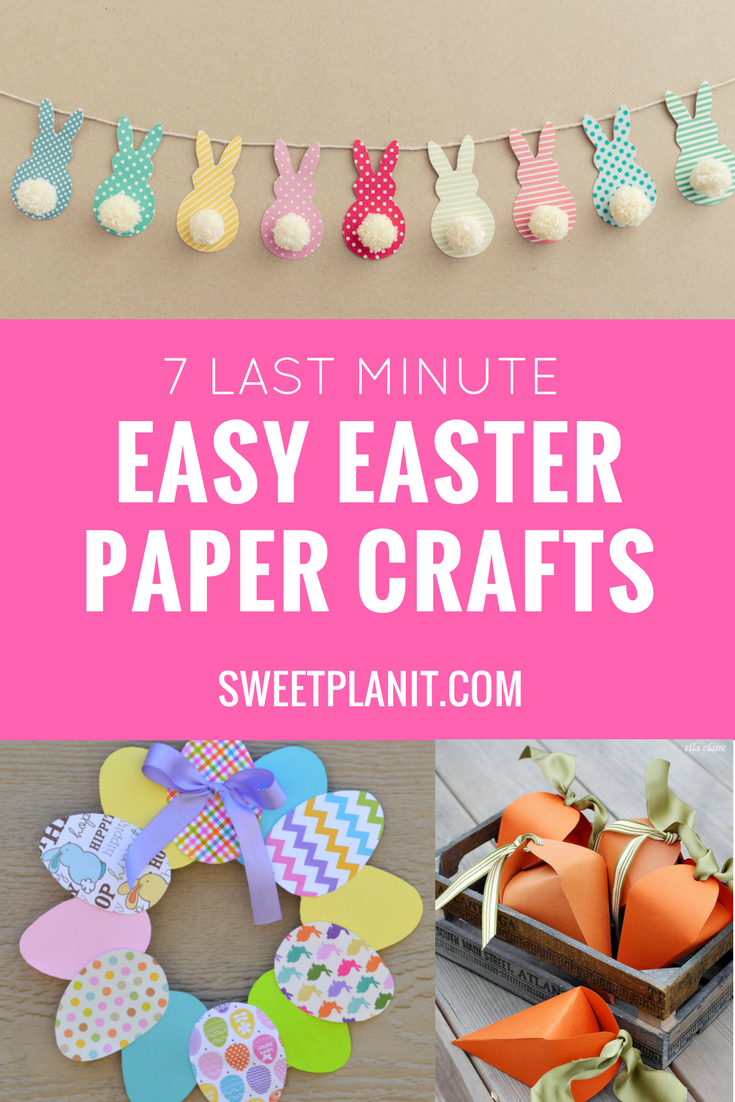 7 Last-Minute Easy Easter Paper Crafts