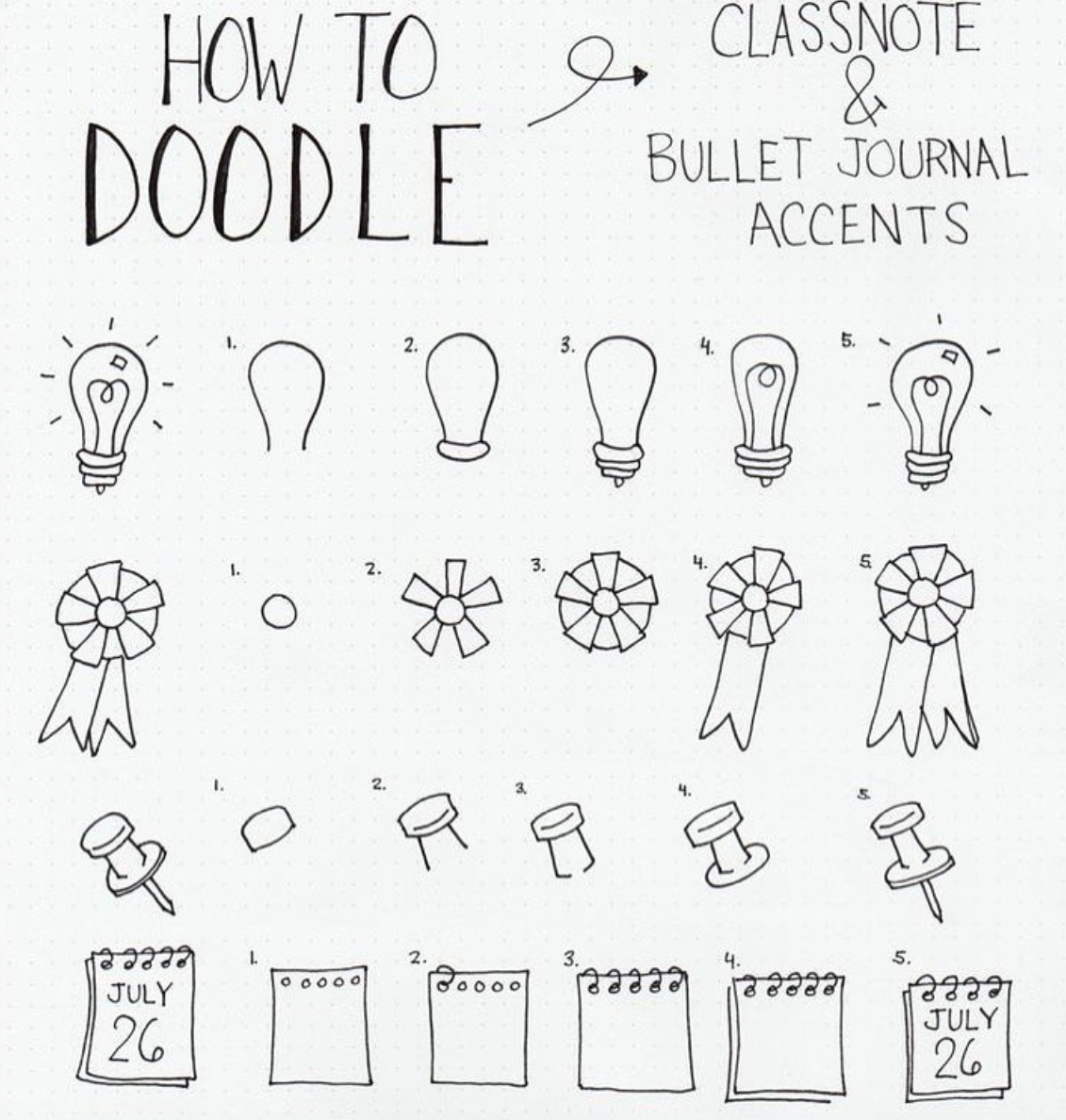 doodles draw cute doodle easy notebook journal bullet simple notes class date bujo note accents anyone notebooks board put idea