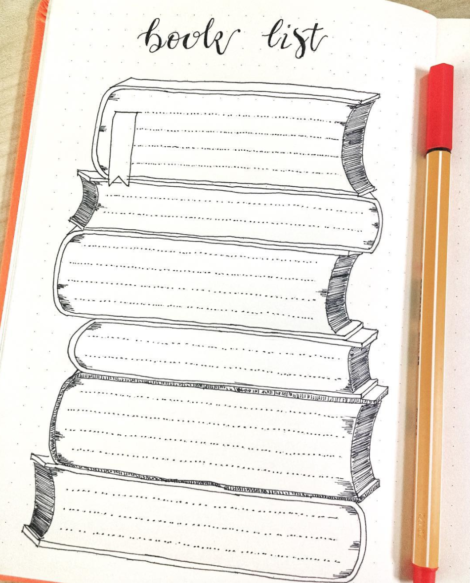 Set a goal to read more and track it in bullet journal books to read