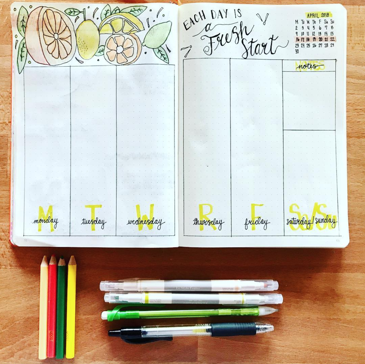 Start each week with a fresh layout. More weekly ideas at SweetPlanit.com