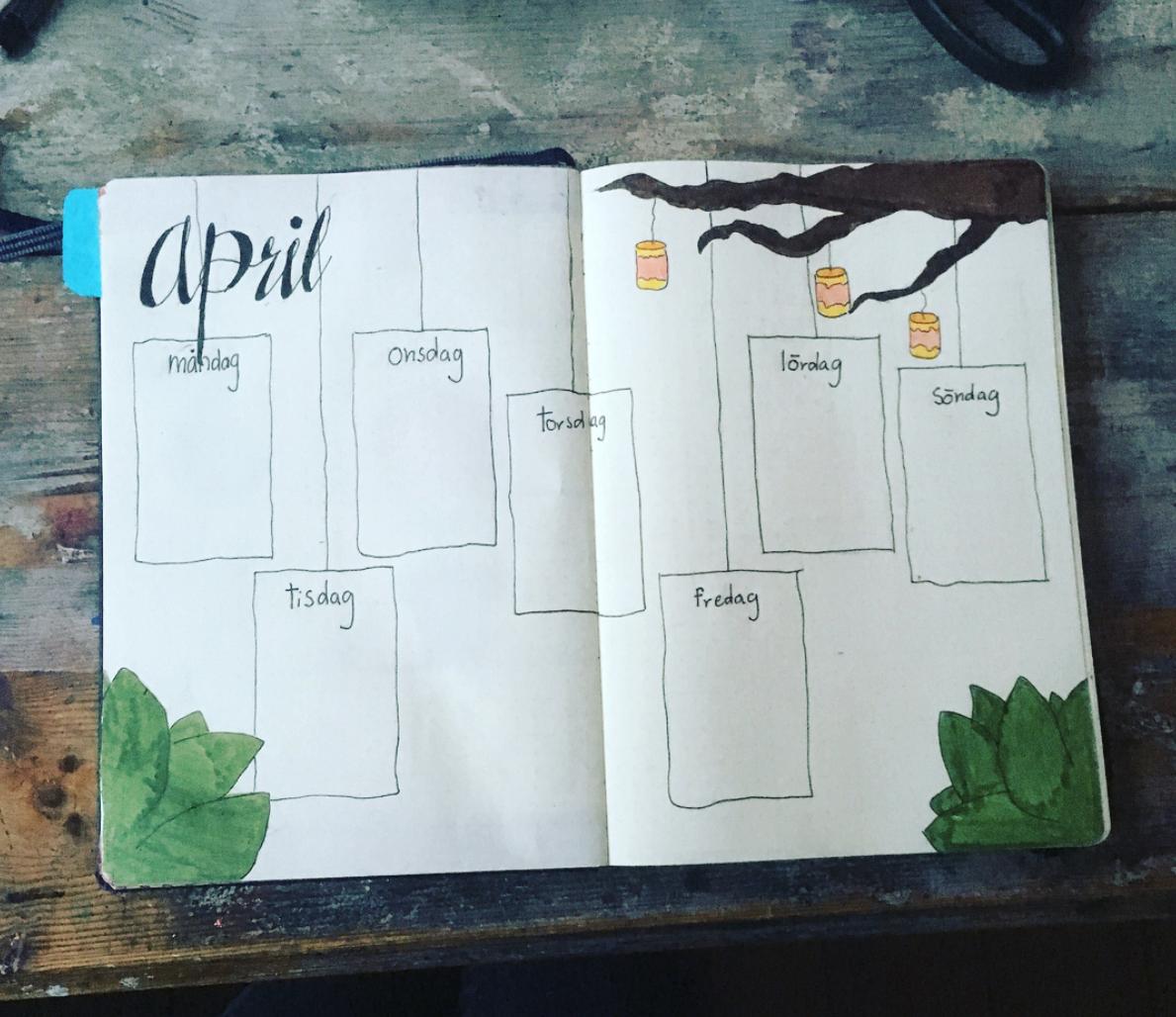 Easy Bullet Journal Weekly Ideas