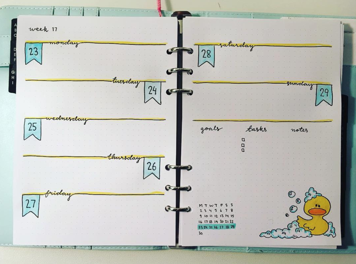 Easy bullet journal spread ideas anyone can make
