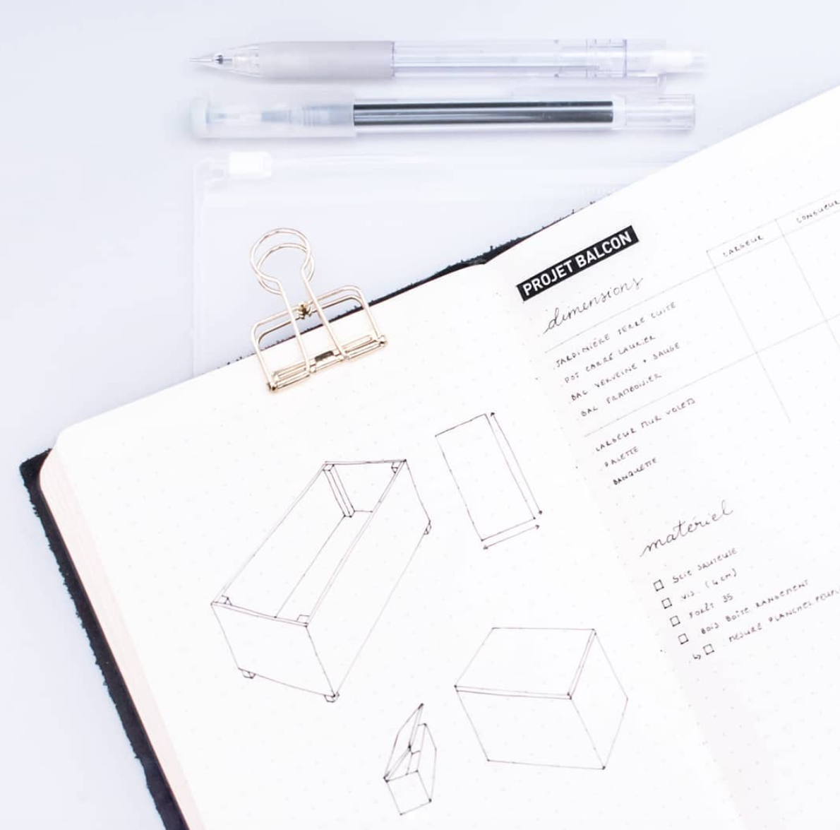 Project planning in Minimalist Bullet Journal