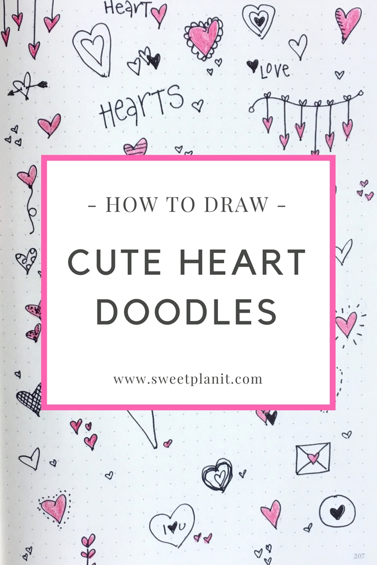 Hundreds of Cute Heart Doodles Anyone Can Draw!