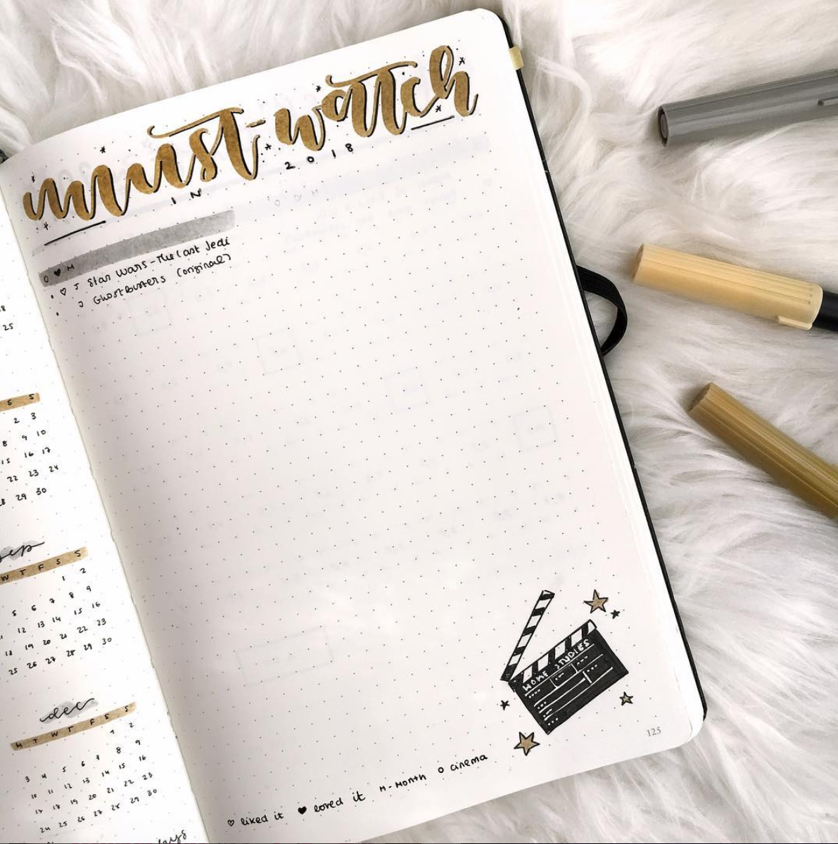 Movie Tracker for your Bullet Journal