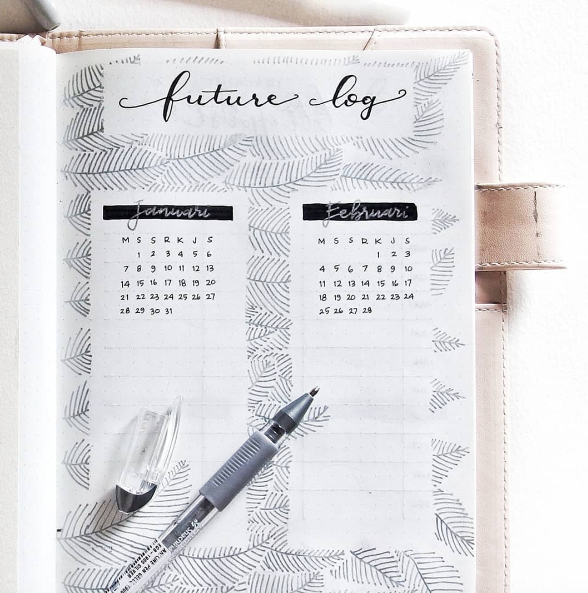 BUllet Journal Future Logs