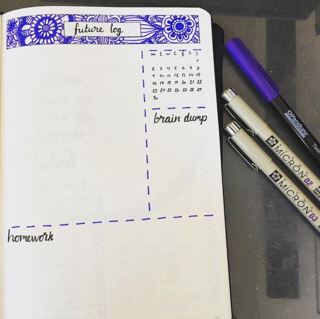 Bujo Future Log Ideas