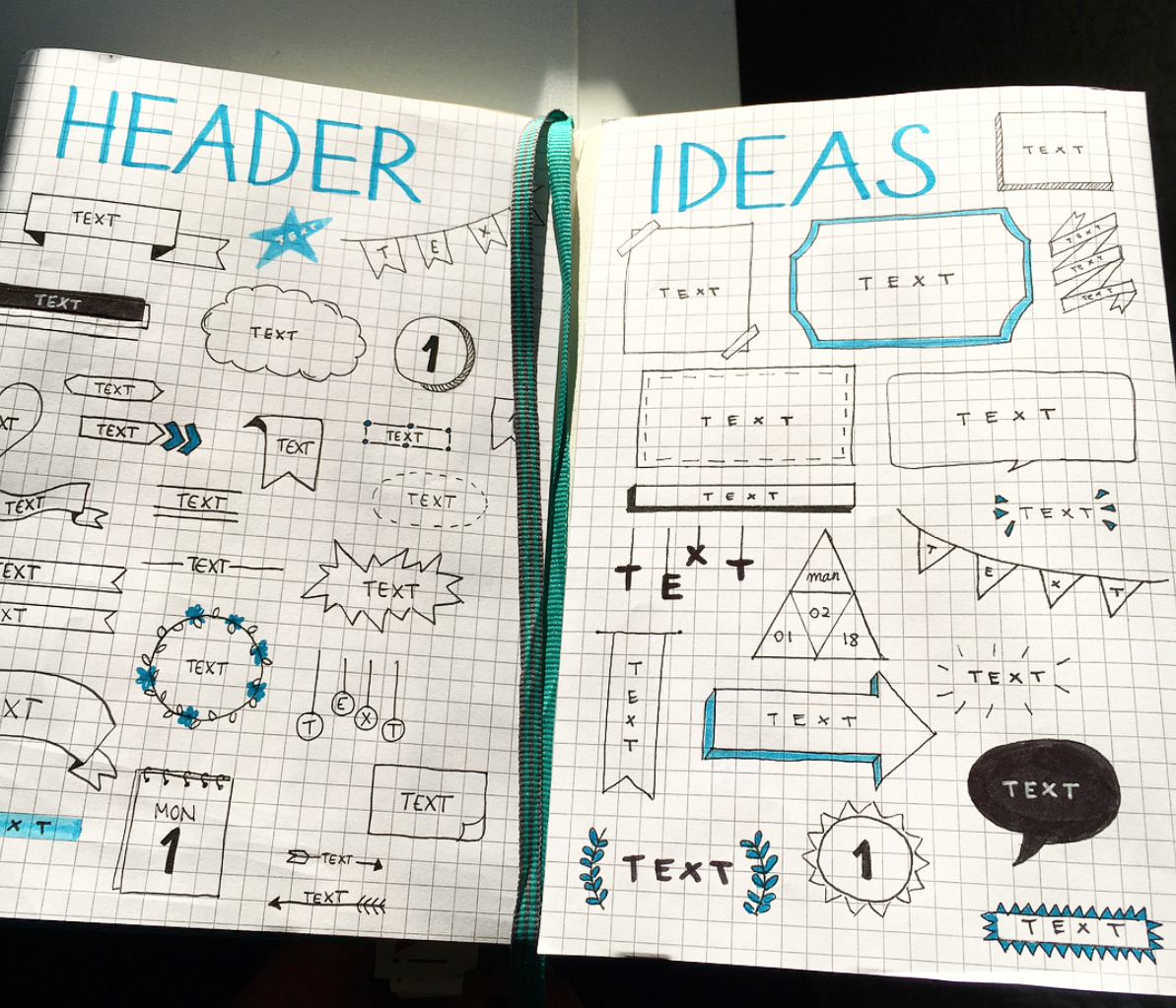 Awesome Bullet Journal Header Ideas