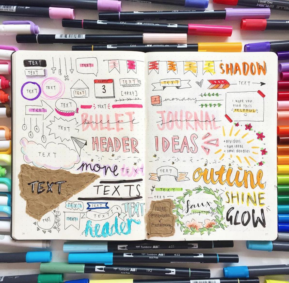 Creative Bullet Journal Header Ideas