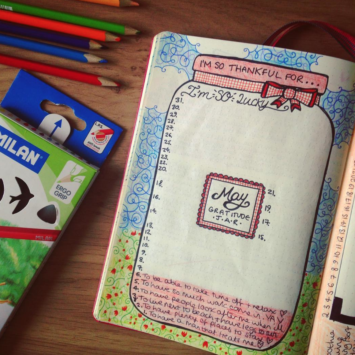Fill Your Jar with Gratitude in your Bullet Journal