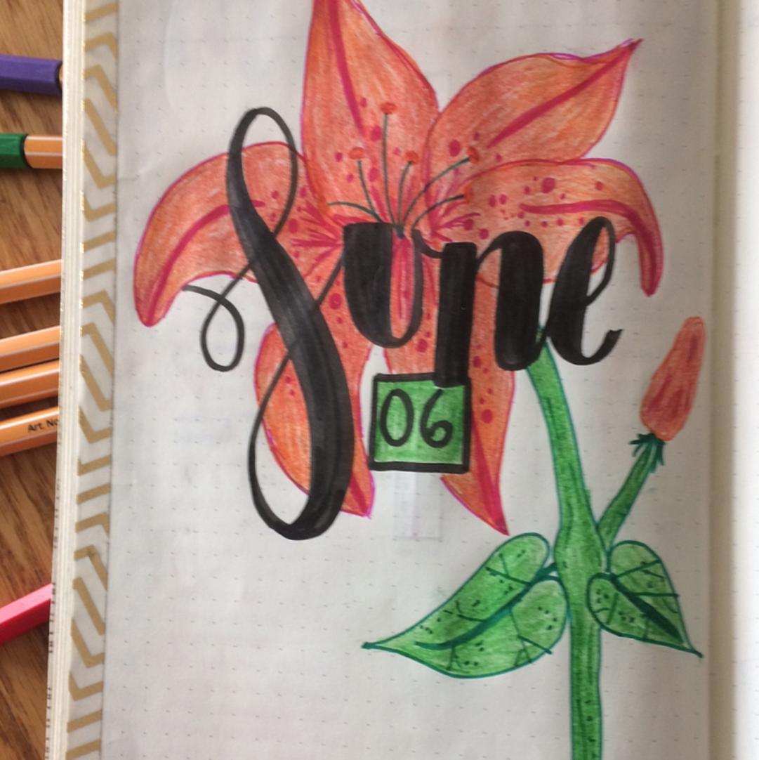 June Bullet Journal Spreads