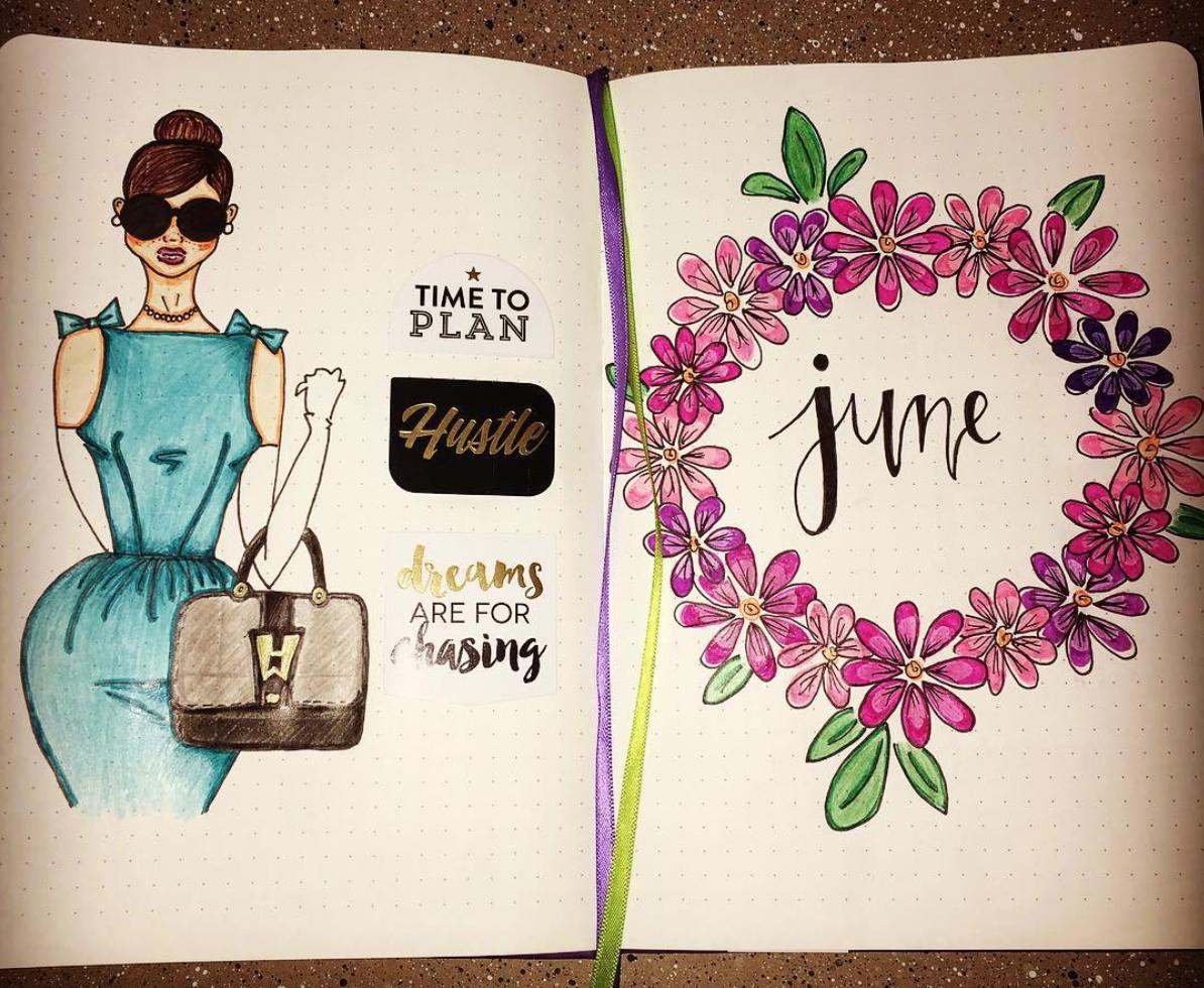 Inspiring June Bullet Journal Spreads