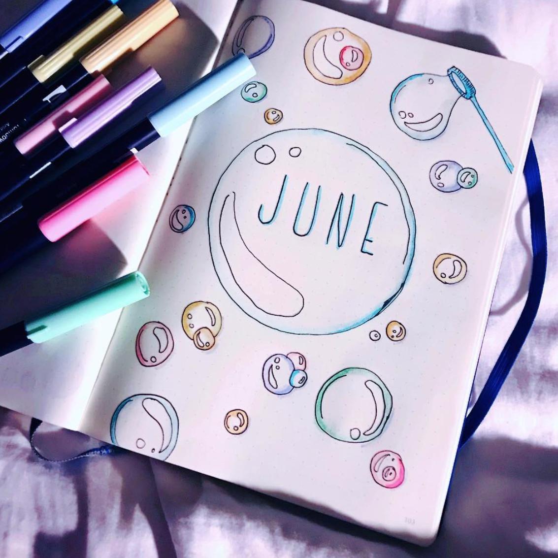 Inspiring Bullet Journal Layouts for June