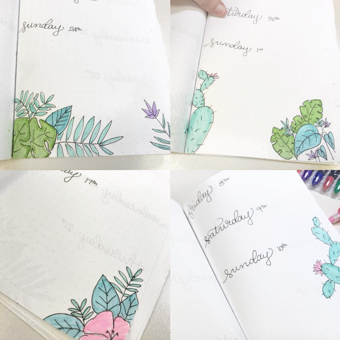 Floral Bullet Journal Pages for June