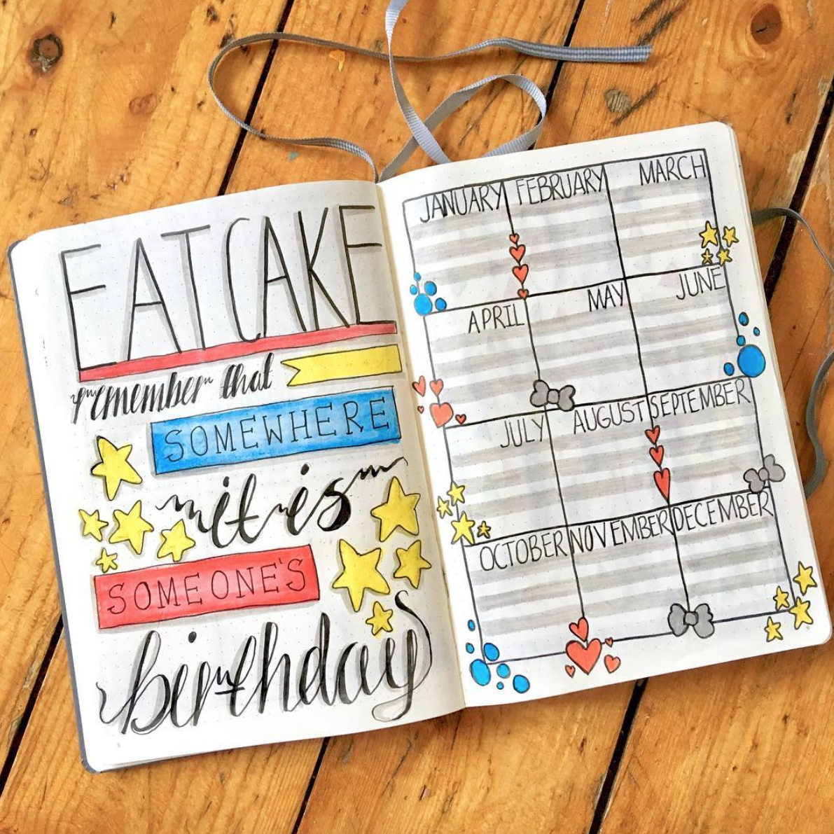 Awesome Birthday Tracker Ideas for Your Bullet Journal