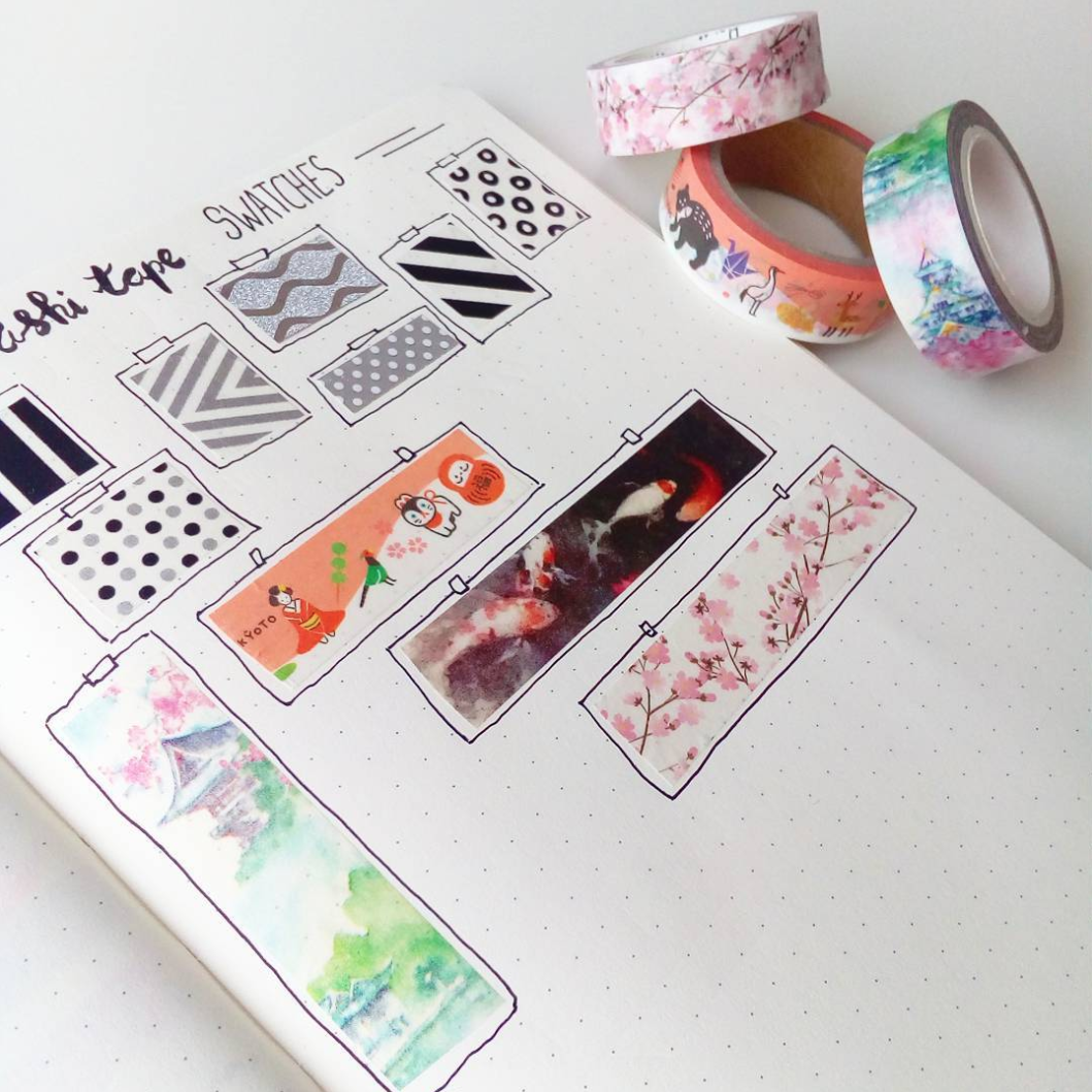 Ways to Catalog Washi Tape in your Bullet Journal