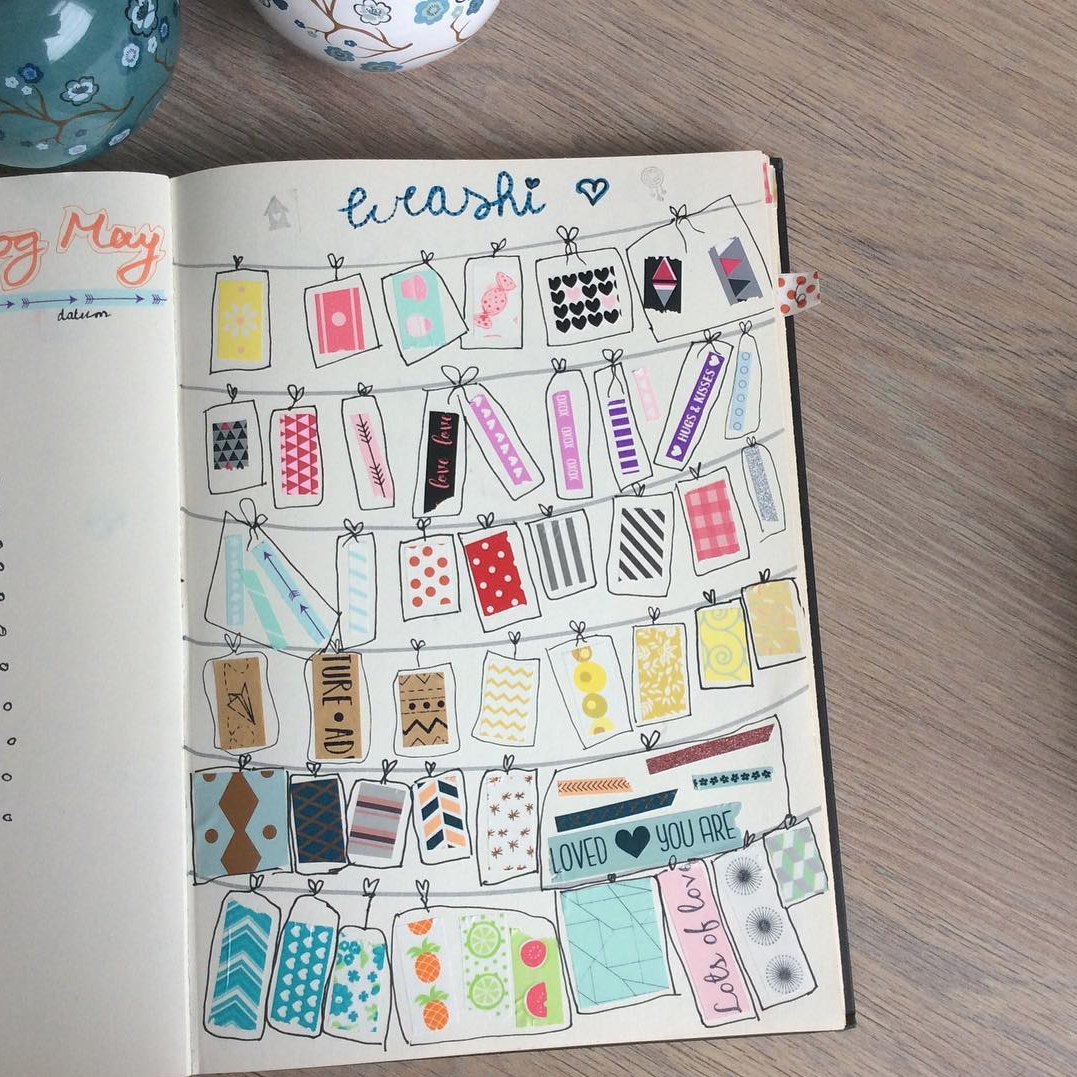 Ways to Keep Track of Washi Tape in Your Bujo